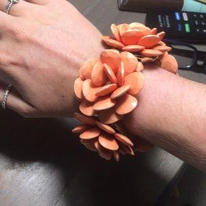 J. Crew Jewelry - J crew flower bracelet.